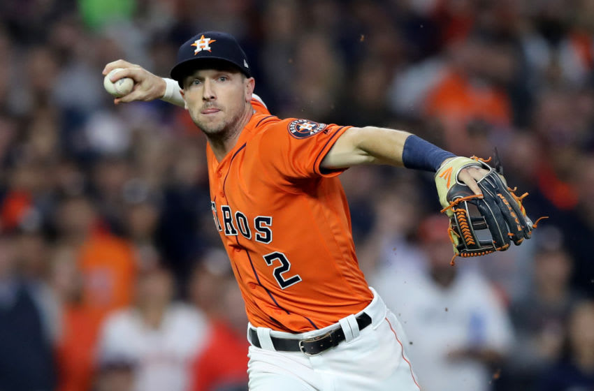 Houston Astros third baseman Alex Bregman (Photo by Elsa/Getty Images)