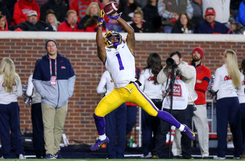 LSU Football WR Ja'Marr Chase (Photo by Jonathan Bachman/Getty Images)