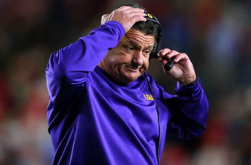 LSU football head coach Ed Orgeron (Photo by Jonathan Bachman/Getty Images)