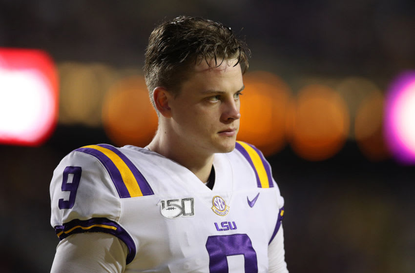 Former LSU football QB Joe Burrow will suit up for the Cincinnati Bengals in 2020 (Photo by Chris Graythen/Getty Images)
