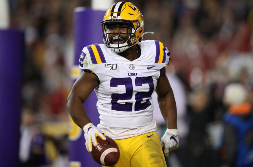 LSU Football RB Clyde Edwards-Helaire (Photo by Chris Graythen/Getty Images)