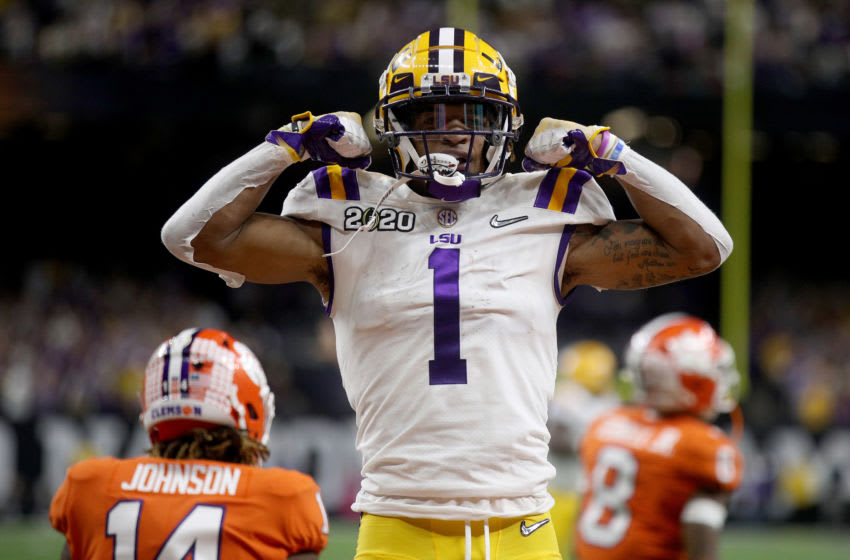 LSU football wide receiver Ja'Marr Chase (Photo by Chris Graythen/Getty Images)