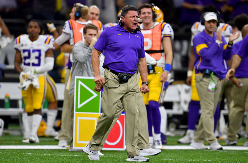 LSU football coach Ed Orgeron (Photo by Alika Jenner/Getty Images)