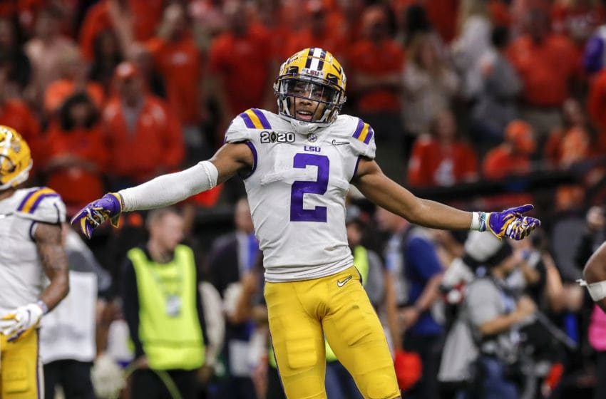 LSU Football WR Justin Jefferson (Photo by Don Juan Moore/Getty Images)