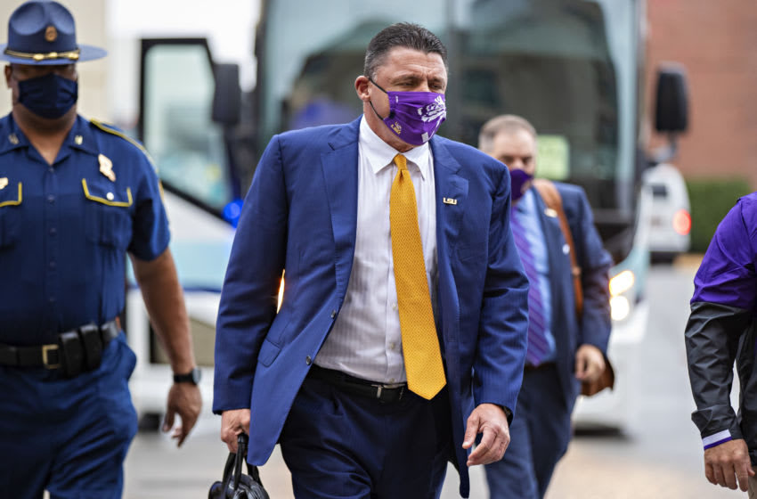 LSU Football head coach Ed Orgeron (Photo by Wesley Hitt/Getty Images)