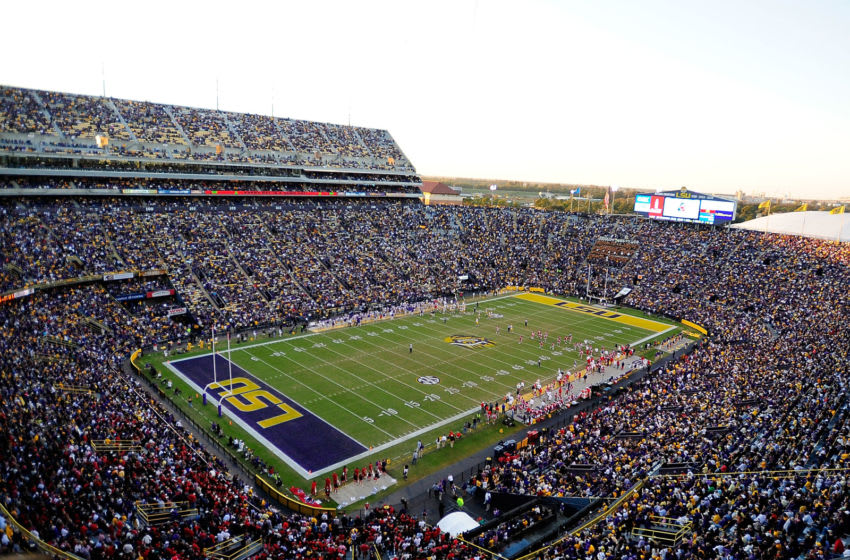 BATON ROUGE, LA - NOVEMBER 17: A general view of Tiger Stadium during a game between the Ole Miss Rebels and the LSU Tigers on November 17, 2012 in Baton Rouge, Louisiana. LSU would win the game 41-35. (Photo by Stacy Revere/Getty Images)