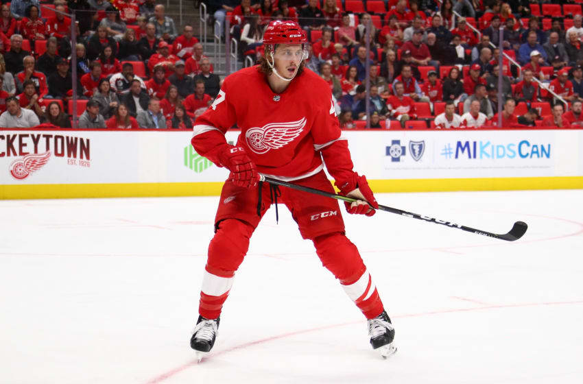 DETROIT, MI - OCTOBER 04: Libor Sulak #47 of the Detroit Red Wings skates against the Columbus Blue Jackets at Little Caesars Arena on October 4, 2018 in Detroit, Michigan. (Photo by Gregory Shamus/Getty Images)