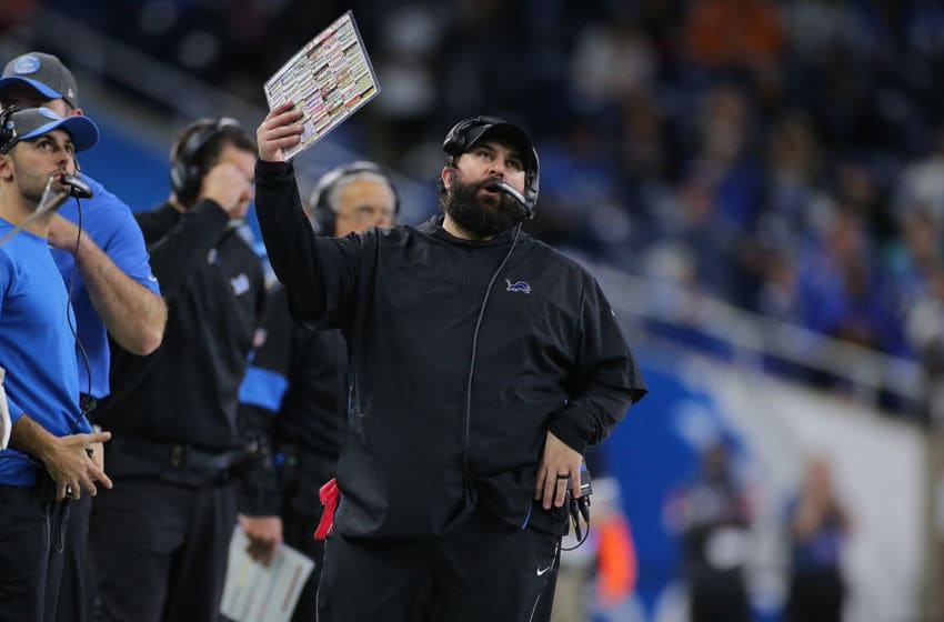 DETROIT, MI - DECEMBER 15: Detroit Lions Head Football Coach Matt Patricia reacts to a play during the fourth quarter of the game against the Tampa Bay Buccaneers at Ford Field on December 15, 2019 in Detroit, Michigan. Tampa Bay defeated Detroit 38-17. (Photo by Leon Halip/Getty Images)