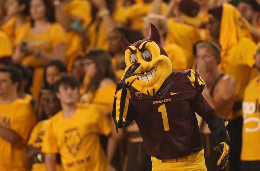 TEMPE, AZ - AUGUST 28: Arizona State Sun Devils mascot,