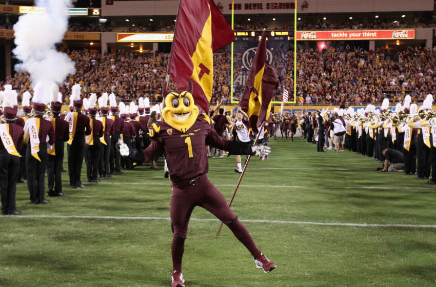 TEMPE, AZ - SEPTEMBER 28: The Arizona State Sun Devils mascot