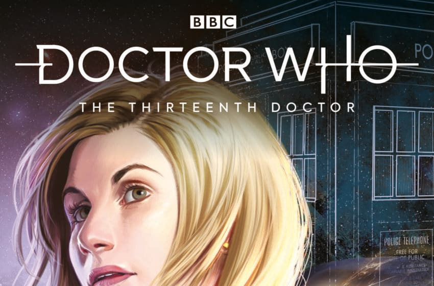 The latest volume collecting the Thirteenth Doctor's comic adventures has just been released, and features her investigating a strange mystery spread across Earth's history. (Image credit: Doctor Who/Titan Comics. Image obtained from: Titan Comics.)