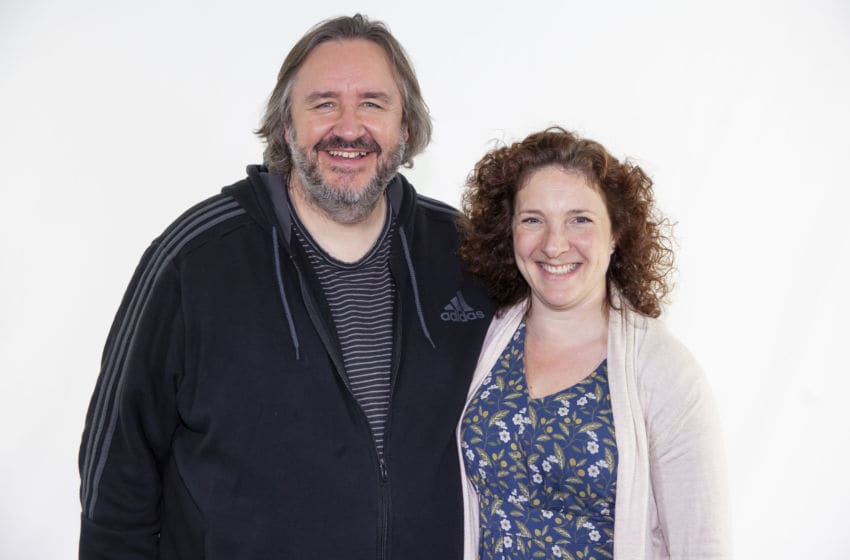 Mark Benton (pictured here with director Helen Goldwyn) was brilliant as conspiracy theorist Clive Finch. We look at why his character is one of the best takes on fandom in Doctor Who. (Image Courtesy: Big Finish Productions.)