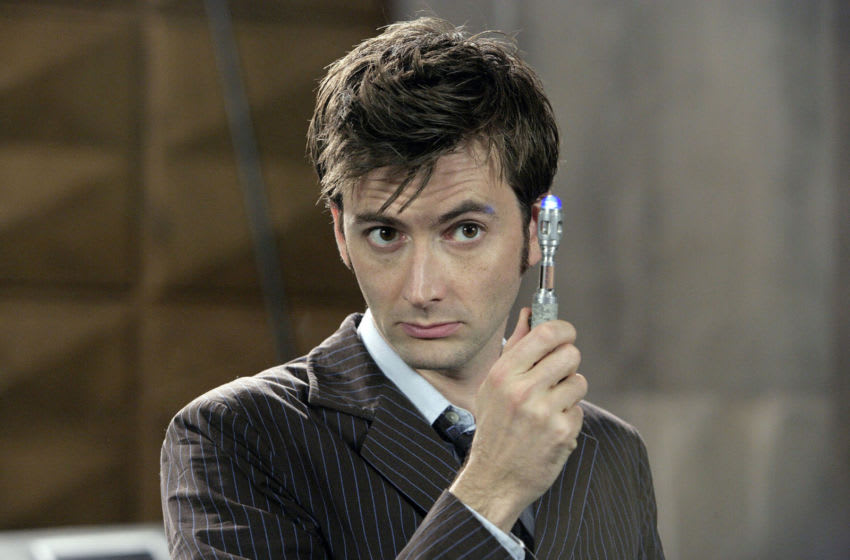 One year before he would play his most iconic role, David Tennant was cast as Galanar in Dalek Empire III. Image credit: Doctor Who/BBC. Image obtained from: BBC Press.