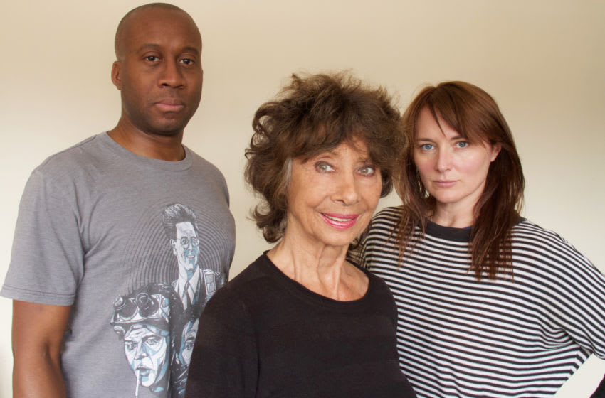 (L to R) Damian Lynch, Carole Ann Ford and Beth Chalmers star in Susan's War, an upcoming spin-off that will explore what happened to the Doctor's granddaughter during the Time War... Image Courtesy Big Finish Productions