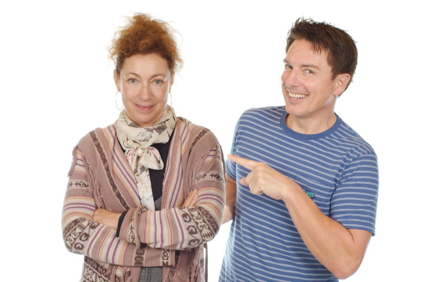 It's taken a long time, but Alex Kingston's and John Barrowman's iconic characters of River and Jack finally meet in The Lives of Captain Jack: Volume Three! Image Courtesy Big Finish Productions