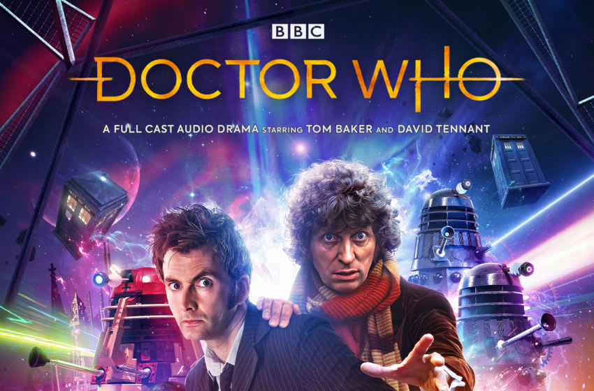 This month, two iconic Doctors met each other for the first time in Out of Time! Image Courtesy Big Finish Productions