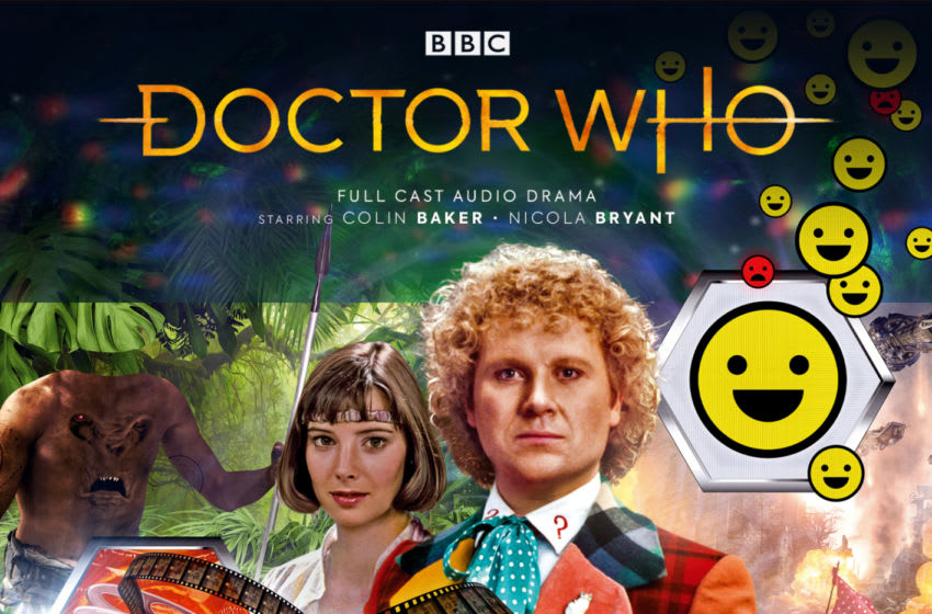 The Sixth Doctor and Peri have to undergo therapy in Conflict Theory, which exposes their deepest fears and flaws... Image Courtesy Big Finish Productions