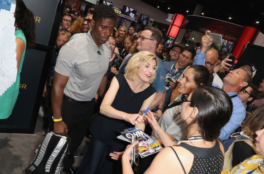 Doctor Who fans have sadly been unable to enjoy the traditional convention experience due to COVID-19. But that hasn't stopped them from enjoying that experience in a new and fresh way... (Photo by Joe Scarnici/Getty Images for BBC America)