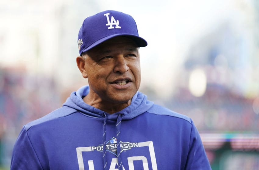 Dave Roberts, Los Angeles Dodgers, (Photo by Patrick McDermott/Getty Images)
