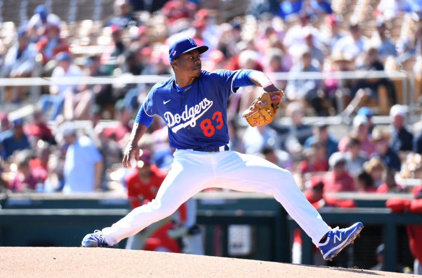 Josiah Gray, Los Angeles Dodgers (Photo by Norm Hall/Getty Images)