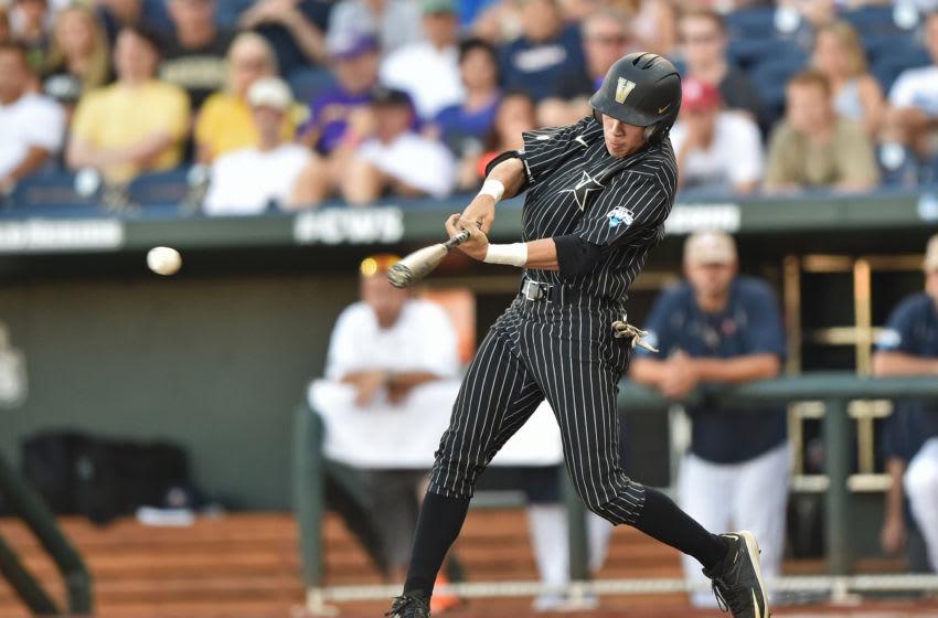 OMAHA, NE - JUNE 22: Left fielder Jeren Kendall