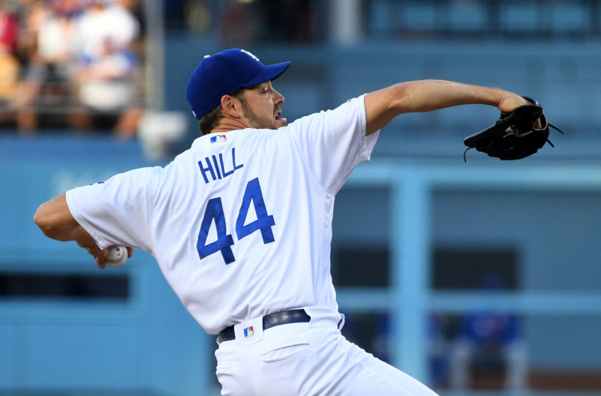 LOS ANGELES, CA - JUNE 14: Rich Hill #44 of the Los Angeles Dodgers pitches in the first inning of the game against the Chicago Cubs at Dodger Stadium on June 14, 2019 in Los Angeles, California. (Photo by Jayne Kamin-Oncea/Getty Images)