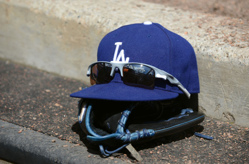Los Angeles Dodgers baseball hat (Photo by Mark Cunningham/MLB Photos via Getty Images)