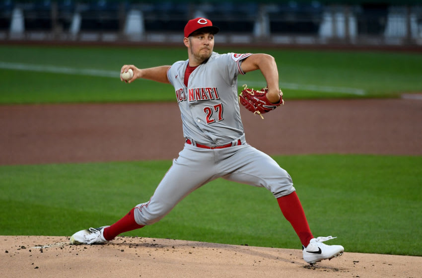 PITTSBURGH, PA - SEPTEMBER 04: Trevor Bauer #27 of the Cincinnati Reds. (Photo by Justin Berl/Getty Images)