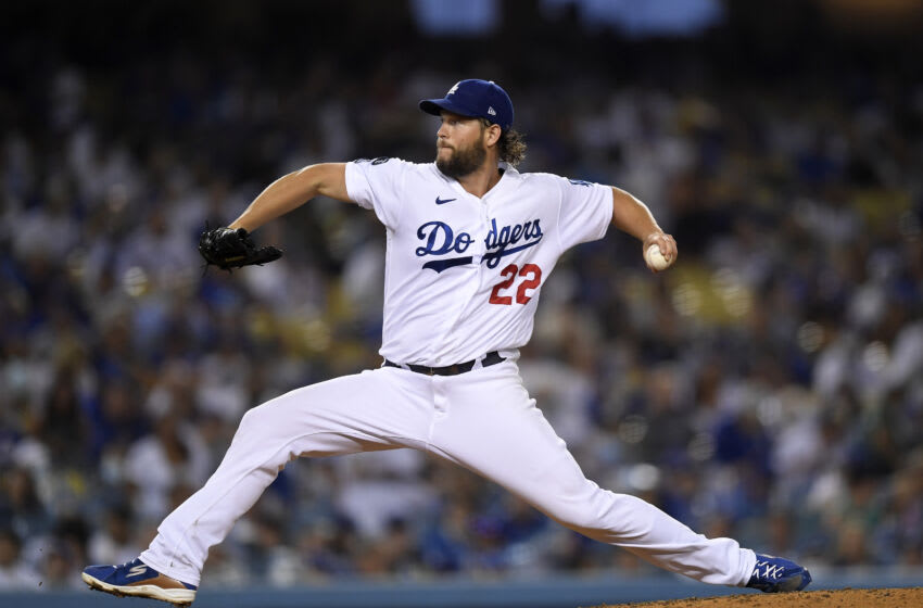 LOS ANGELES, CA - SEPTEMBER 13: Starting pitcher Clayton Kershaw #22 of the Los Angeles Dodgers (Photo by Kevork Djansezian/Getty Images)