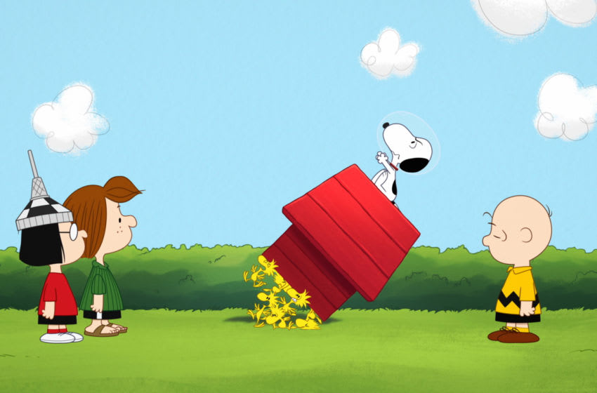 """Snoopy and friends in """"Snoopy in Space,"""" premiering November 1 on Apple TV+... Image Courtesy Apple TV+"""
