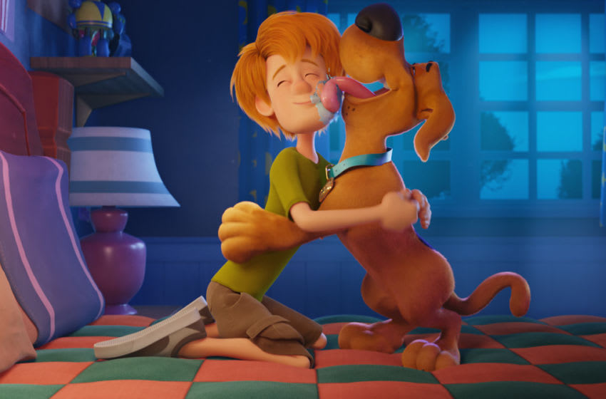 "(L-r) Young Shaggy and young Scooby-Doo in the new animated adventure ""SCOOB!"" from Warner Bros. Pictures and Warner Animation Group."