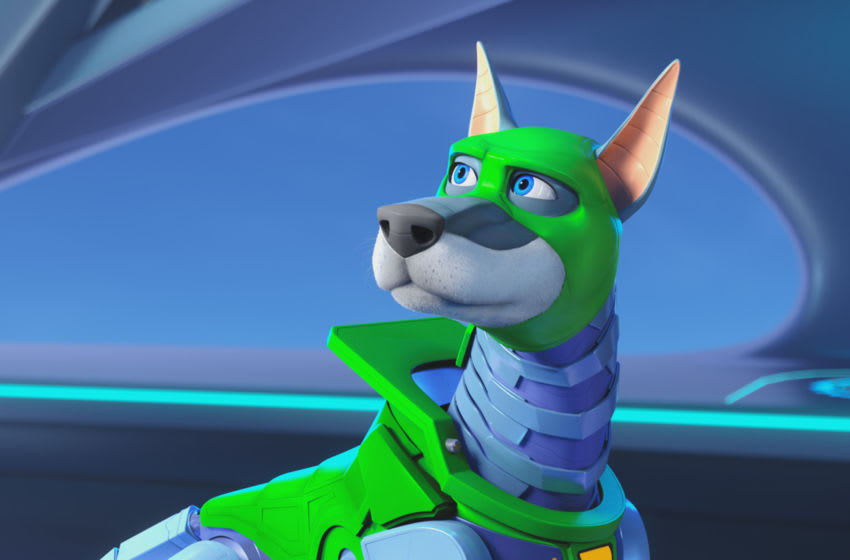 """Dynomutt voiced by KEN JEONG in the new animated adventure """"SCOOB!"""" from Warner Bros. Pictures and Warner Animation Group. Courtesy of Warner Bros. Pictures"""