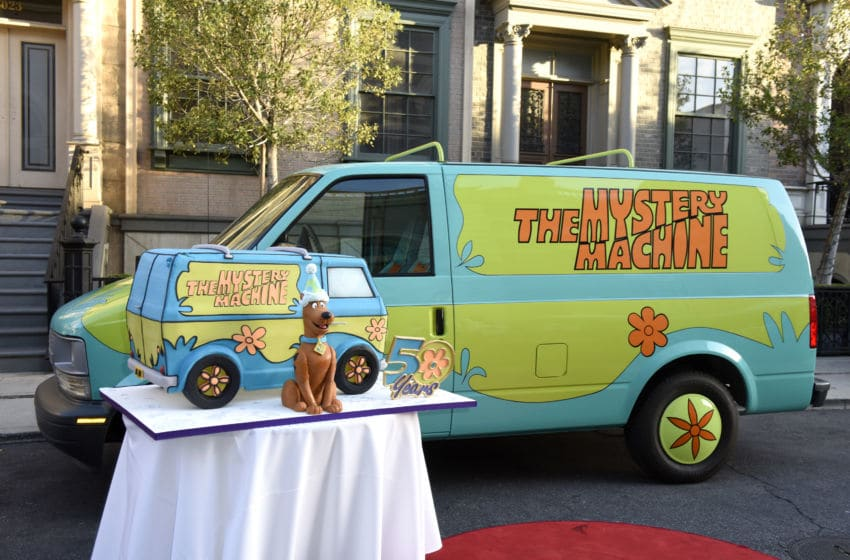 BURBANK, CALIFORNIA - SEPTEMBER 13: The Mystery Machine is seen during Scooby-Doo's 50th Birthday Event on September 13, 2019 in Burbank, California. (Photo by Vivien Killilea/Getty Images for Movement Strategy for Scooby-Doo 50th Birthday Event)