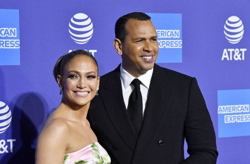 PALM SPRINGS, CALIFORNIA - JANUARY 02: (L-R) Jennifer Lopez and Alex Rodriguez attend the 31st Annual Palm Springs International Film Festival Film Awards Gala at Palm Springs Convention Center on January 02, 2020 in Palm Springs, California. (Photo by Frazer Harrison/Getty Images for Palm Springs International Film Festival)