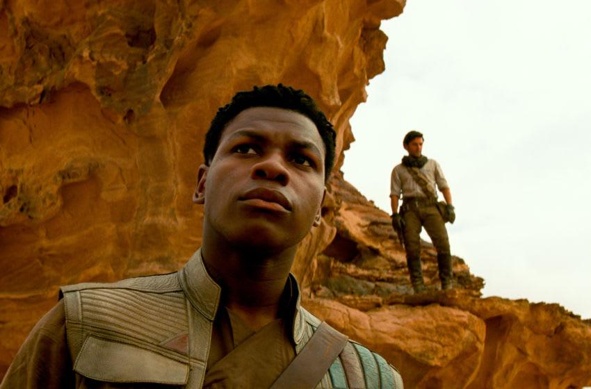 Finn (John Boyega) and Poe Dameron (Oscar Isaac) in STAR WARS: THE RISE OF SKYWALKER.