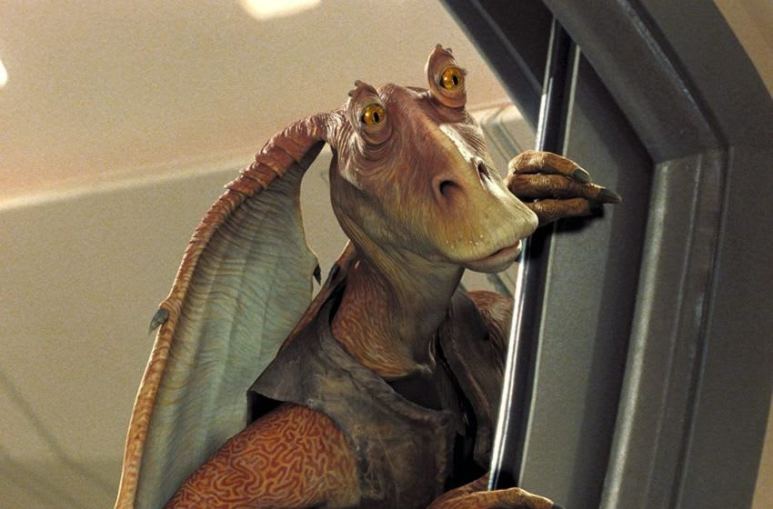 Ahmed Best as Jar Jar Binks in Star Wars: Episode I - The Phantom Menace (1999). Photo: Lucasfilm.