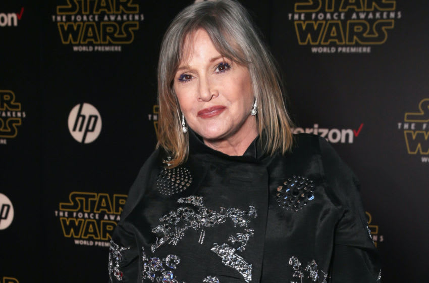 Carrie Fisher attends the Premiere of Walt Disney Pictures and Lucasfilm's