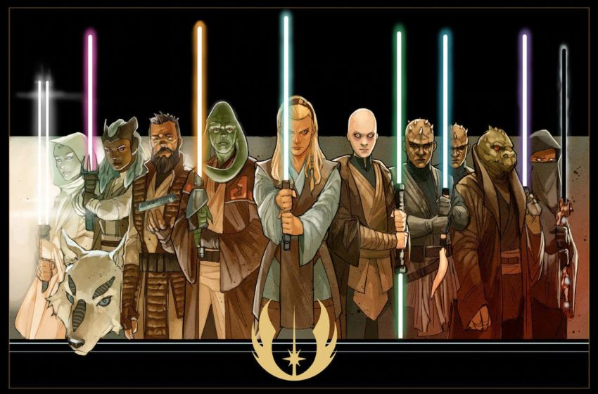 Concept art of the various new Jedi of the High Republic. Art by Phil Noto. Photo: Star Wars.