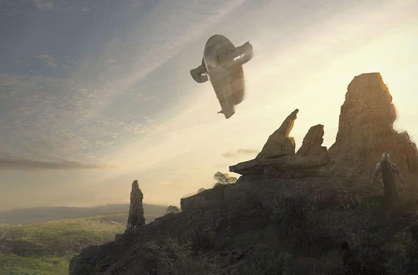 The Mandalorian concept art by Erik Tiemens. Photo: Disney+.