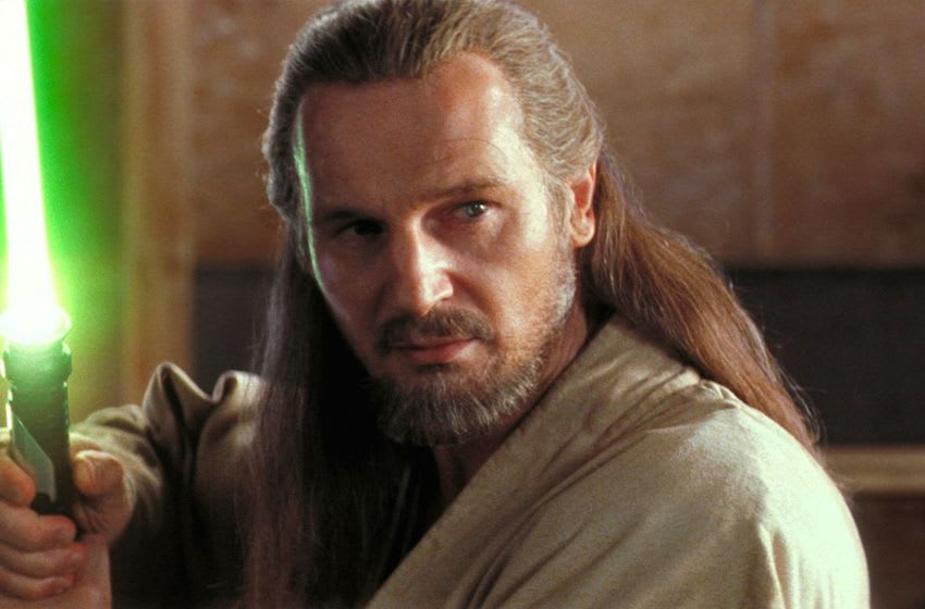 A venerable if maverick Jedi Master, Qui-Gon Jinn (Liam Neeson) was a student of the living Force. Photo: Lucasfilm.