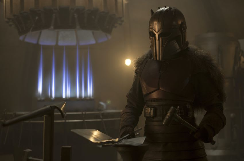 Emily Swallow is the Armorer in THE MANDALORIAN, exclusively on Disney+