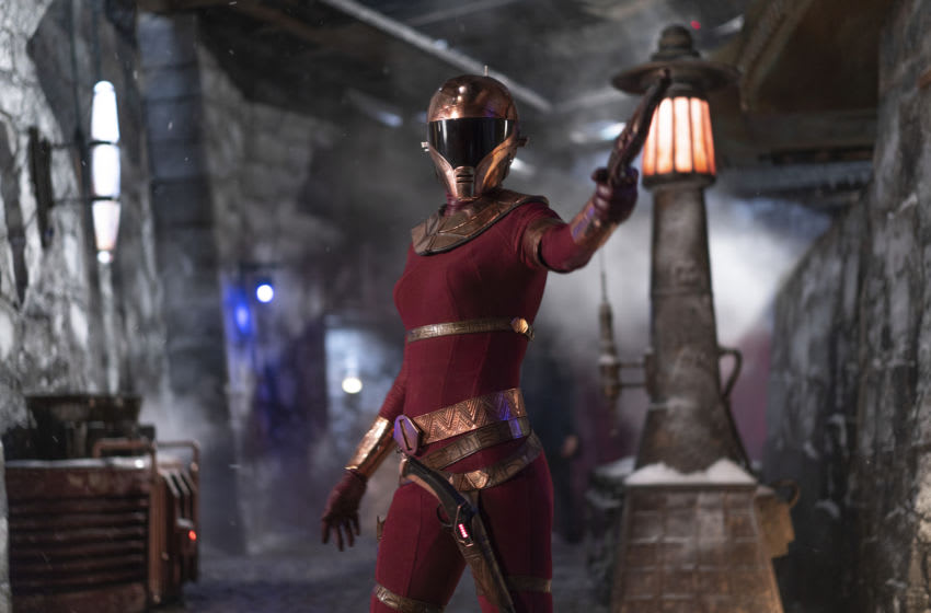 Zorii (Keri Russell) in STAR WARS: THE RISE OF SKYWALKER.