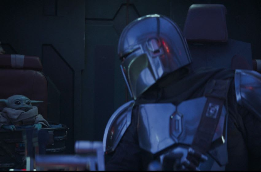 Chapter 6. The Child and the Mandalorian (Pedro Pascal) in THE MANDALORIAN, exclusively on Disney+