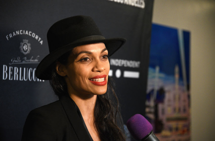 LOS ANGELES, CALIFORNIA - JANUARY 20: Actress Rosario Dawson attends 2020 Filming Italy at Harmony Gold Theatre on January 20, 2020 in Los Angeles, California. (Photo by Michael Tullberg/Getty Images)