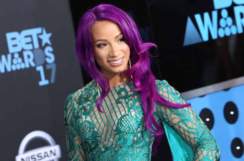 LOS ANGELES, CA - JUNE 25: WWE wrestler Sasha Banks arrives at the 2017 BET Awards at Microsoft Theater on June 25, 2017 in Los Angeles, California. (Photo by Leon Bennett/Getty Images)