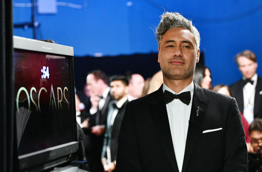 HOLLYWOOD, CALIFORNIA - FEBRUARY 09: In this handout photo provided by A.M.P.A.S. Best Adapted Screenplay winner Taika Waititi poses backstage during the 92nd Annual Academy Awards at the Dolby Theatre on February 09, 2020 in Hollywood, California. (Photo by Richard Harbaugh - Handout/A.M.P.A.S. via Getty Images)