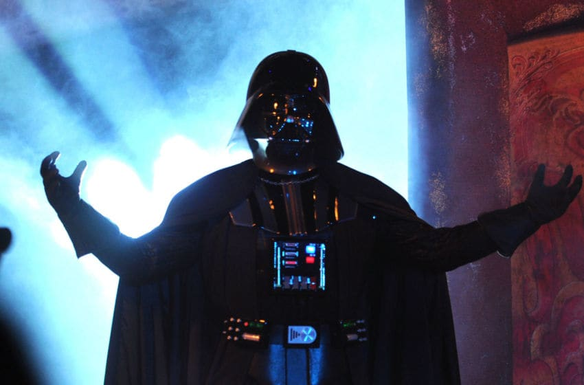 UNIVERSAL CITY, CA - OCTOBER 15: Darth Vader speaks onstage during Spike TV's