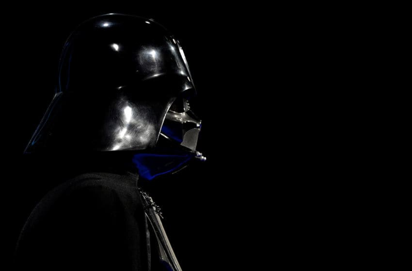 COLOGNE, GERMANY - MAY 20: The first mock-up of the iconic Darth Vader helmet is seen during the 'Star Wars Identities' Exhibtion Press Preview & VIP Opening at Odysseum on May 20, 2015 in Cologne, Germany. (Photo by Sascha Steinbach/Getty Images)