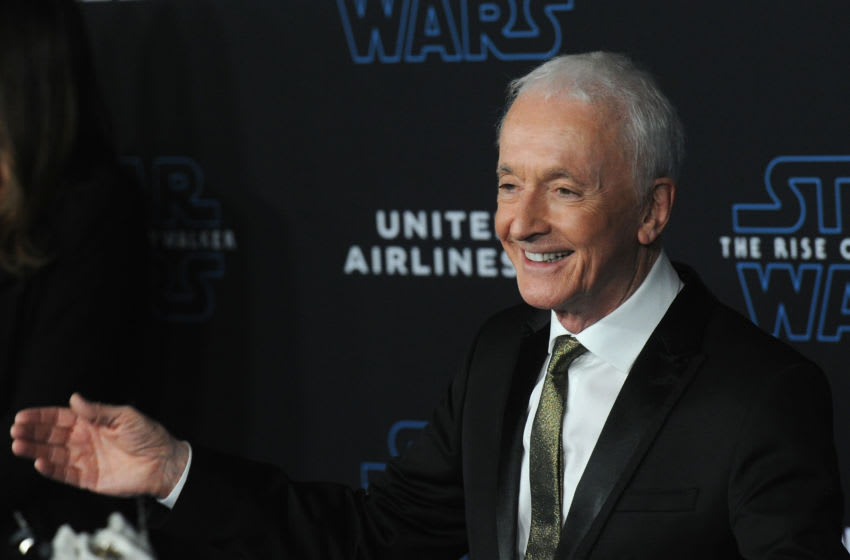 HOLLYWOOD, CA - DECEMBER 16: Anthony Daniels arrives for the Premiere Of Disney's