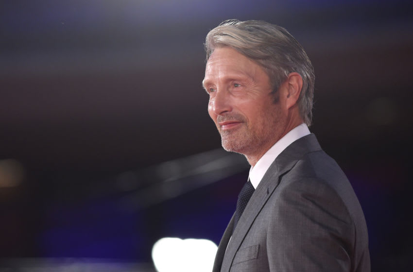 ROME, ITALY - OCTOBER 20: Mads Mikkelsen attends the red carpet of the movie